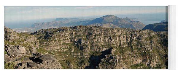 Panorama From The Top Of Table Mountain Yoga Mat
