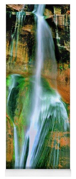 Panorama Lower Calf Creek Falls Escalante Nm Utah Yoga Mat