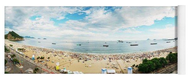 Panorama Of Copacabana, Rio De Janeiro, Brazil  Yoga Mat