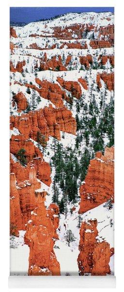Panorama Winter Storm Blankets Thors Hammer Bryce Canyon Utah Yoga Mat