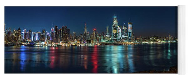Yoga Mat featuring the photograph Panoramic Skyline-manhattan by Francisco Gomez