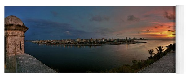Panoramic View Of Havana From La Cabana. Cuba Yoga Mat