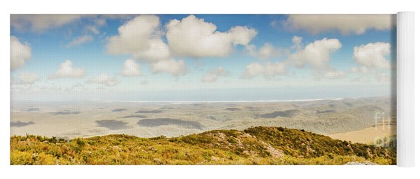 Panoramic Views From Mount Zeehan To Trial Harbour Yoga Mat