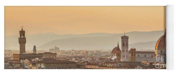 Panorama Of Florence Yoga Mat