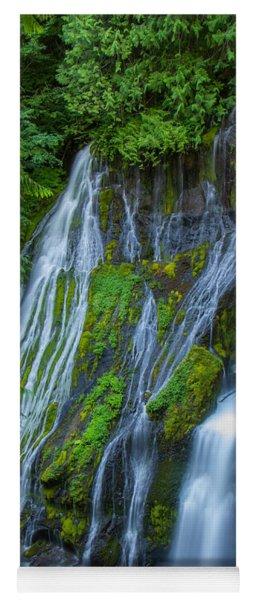 Panther Creek Falls Summer Waterfall 1 Yoga Mat