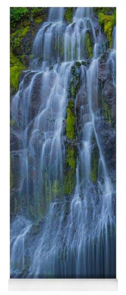 Panther Creek Falls Summer Waterfall -close 2 Yoga Mat