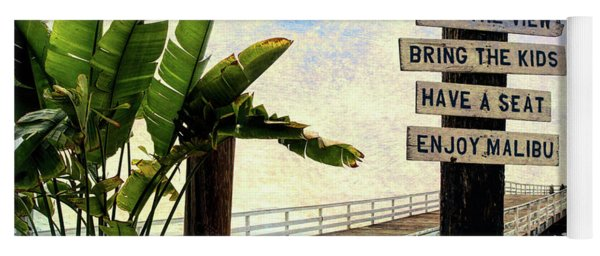 Paradise Cove Sign Yoga Mat