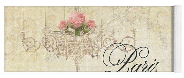 Parchment Paris - City Of Light Rose Chandelier W Plaster Walls Yoga Mat