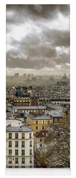 Paris As Seen From The Sacre-coeur Yoga Mat