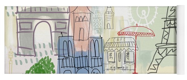 Paris Cityscape- Art By Linda Woods Yoga Mat
