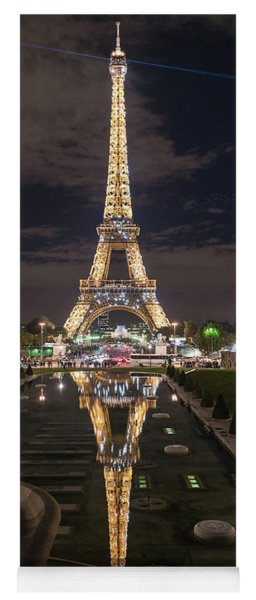 Paris Eiffel Tower Dazzling At Night Yoga Mat