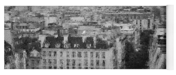 Paris In The Rain  Yoga Mat