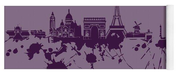 Paris Skyline.1 Yoga Mat