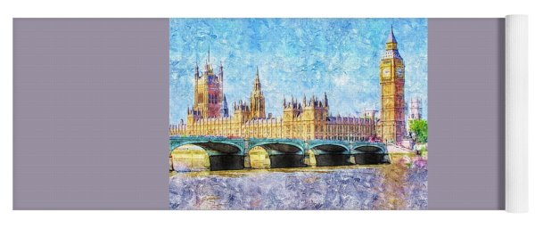 Parliment From Westminister Bridge Yoga Mat