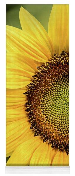 Part Of A Sunflower Yoga Mat