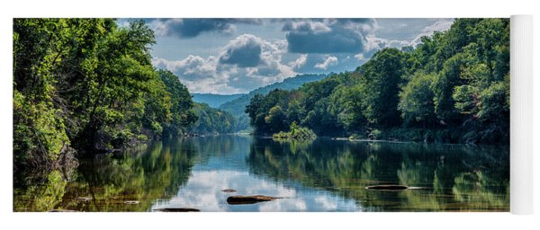Partially Cloudy Gauley River Yoga Mat