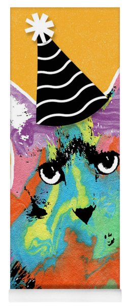 Party Cat- Art By Linda Woods Yoga Mat