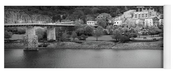 Passing Storm In Chattanooga Black And White Yoga Mat
