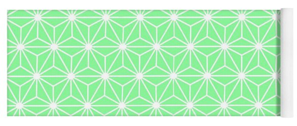 Pastel Green Geometric Flowers And Florals Isosceles Triangle Yoga Mat