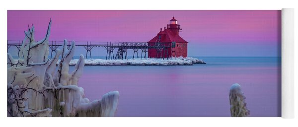 Pastel Lighthouse Yoga Mat