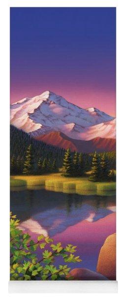 Pastel Mountain Yoga Mat