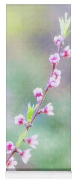 Pastel Painted Peach Blossoms Yoga Mat