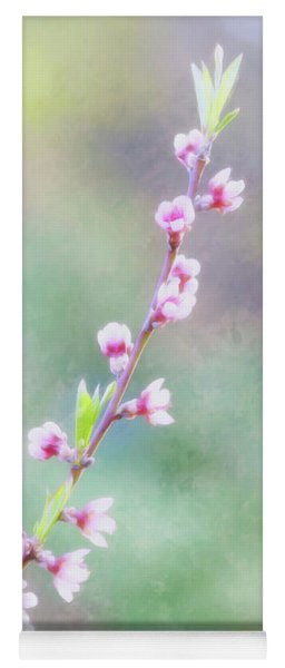 Pastel Painted Peach Blossoms Yoga Mat
