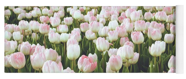 Pastel Pink Tulips- Art By Linda Woods Yoga Mat