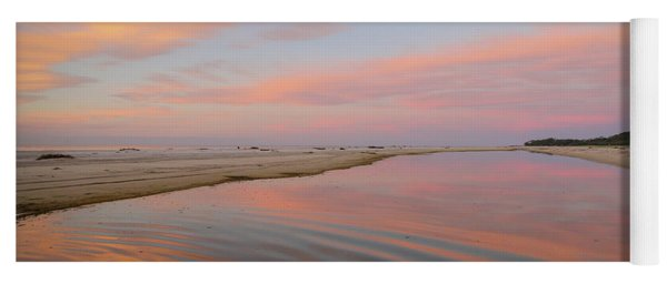 Pastel Skies And Beach Lagoon Reflections Yoga Mat