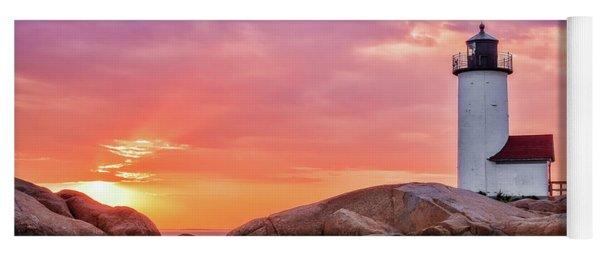 Pastel Sunset, Annisquam Lighthouse Yoga Mat