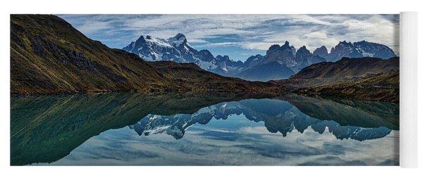 Patagonia Lake Reflection - Chile Yoga Mat