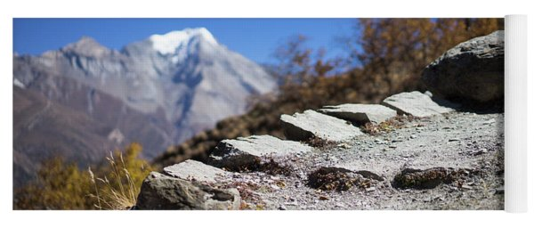 Path And Peak In The Himalaya Mountains, Annapurna Region, Nepal Yoga Mat