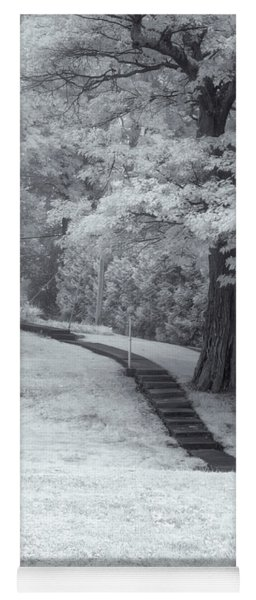Path In Black And White Yoga Mat