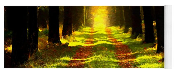 Yoga Mat featuring the painting Path In The Forest 715 - Painting by Ericamaxine Price