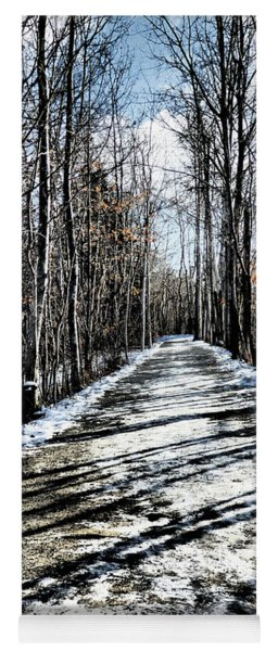 Path In Winter Yoga Mat