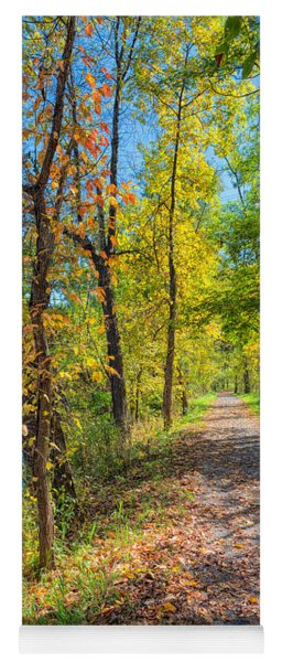Path Through Fall Yoga Mat