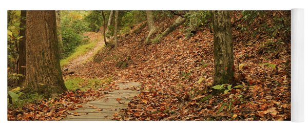 Path To Autumn Yoga Mat