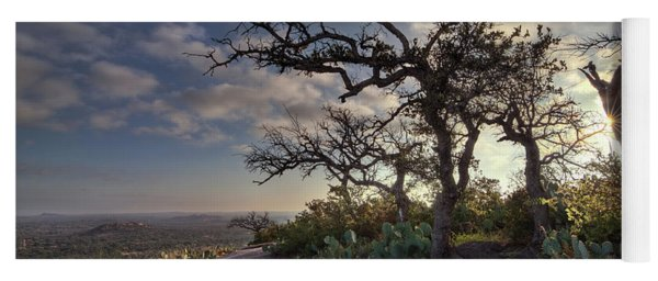 Yoga Mat featuring the photograph Pathway On Top Of Enchanted Rock by Todd Aaron