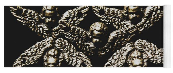 Pattern Of Antique Cupid Angels  Yoga Mat