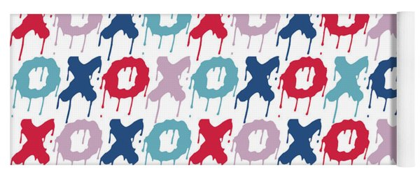 Pattern X O  Yoga Mat