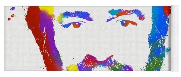 Pavarotti Colorful Paint Splatter Yoga Mat