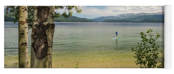 Yoga Mat featuring the photograph Payette Lake by Mark Mille