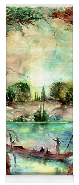 Paysage With A Boat Yoga Mat