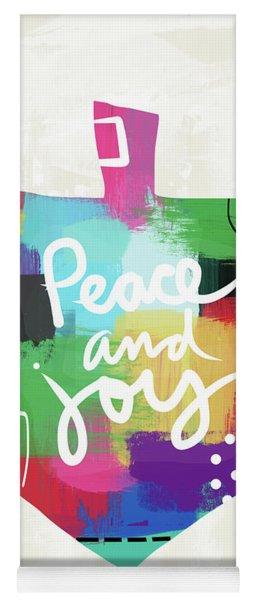 Peace And Joy Dreidel- Art By Linda Woods Yoga Mat