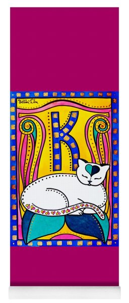 Peace And Love - Cat Art By Dora Hathazi Mendes Yoga Mat