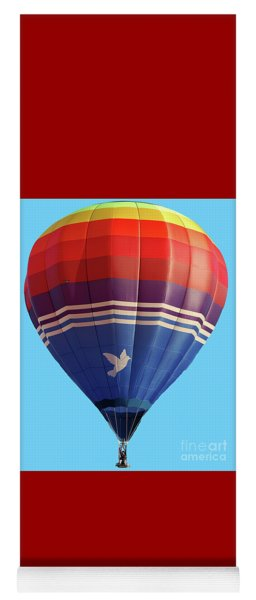 Peace Dove Hot Air Balloon Yoga Mat