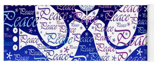 Peace Holiday Card Yoga Mat