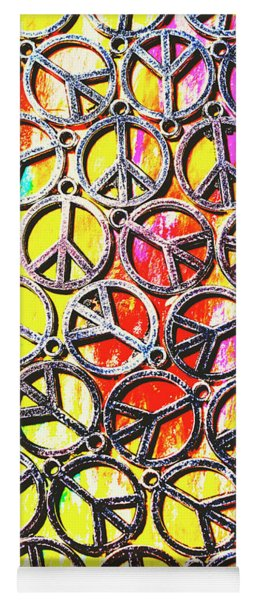 Peace In All Colours Yoga Mat