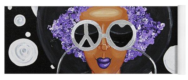Peace, Love, Polka Dots Yoga Mat
