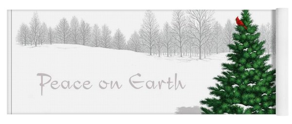 Peace On Earth Yoga Mat